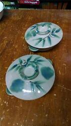 Vintage Pair Of Japan Japanese Rice Bowls With Lids