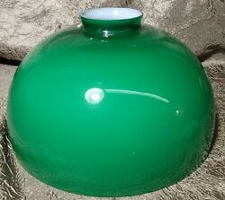 8 Dome Cased Green Glass Lamp Shade Replacement Globe 2 1/8 Adapter