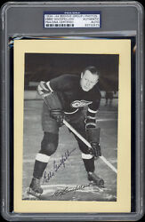 1934-44 Beehive Ebbie Goodfellow Detroit Red Wings Autographed/signed Psa/dna