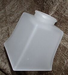 Mission Style Lamp Shade Square Fixture Globe Frosted Glass 2 1/4 Fitter