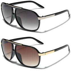 Retro 80s Fashion Aviator Sunglasses Black White Brown Men Women Vintage Glasses $9.95