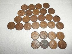 Lot Of 30 Rare 1949 4- 1949 D And 4- 1949 S Wheat Penny 1 Cent Coins Unsearched