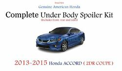 Genuine Oem Honda Accord 2dr Coupe Complete Under Body Kit 2013 - 2015 Nh-797m