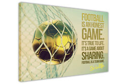 Inspirational Football Quote Canvas Prints Wall Art Pictures Sports Posters Deco