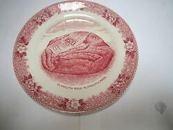Pair Old English Staffordshire Ware Jonroth Transfer 6 Inch Plate Plymouth Rock
