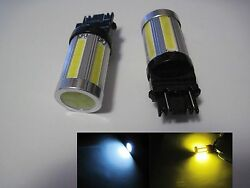 4x  3157  COB LED SMD dual color  Switchback cool White Super Yellow Type 2