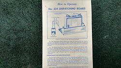 Lionel 334 Dispatching Board Instructions Photocopy