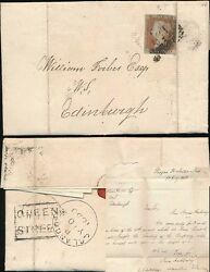 PENNY RED IMPERF SCOTS LOCAL 1850 QUEEN STREET BOXED