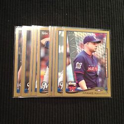 2014 TOPPS UPDATE MILWAUKEE BREWERS *GOLD BORDER # 2014* TEAM SET 10 CARDS