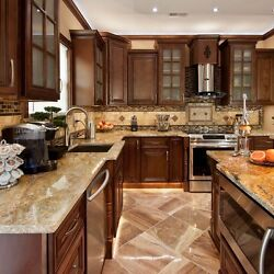 90quot; Kitchen Cabinets All Wood Wall and Base Kitchen Geneva Group Sale KCGN21