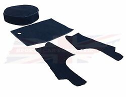 New 4 Piece Trunk Boot Black Carpet Kit For Mgb 1963-80 Roadster Made In Uk