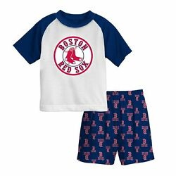 Boston Red Sox MLB Baseball Youth Pajama Set Size 4 - 56 - 7 - 8 NWT $34 RV  $22.99