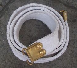 Smle And Slr Parade 303 Rifle Sling - White Webbing Reproduction Ww1 Ww2 Vietnam