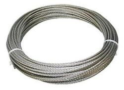 304 Stainless Steel Wire Rope Cable 3/16 7x19 50 Ft Made In Korea