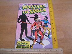 Mystery In Space 80 F/vf Comic Book Silver Age 12 Cent Adam Strange Shadow