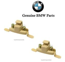 For Bmw E38 E39 Pair Set Of Two Oes Beige Sun Visor Clip 51 16 8 174 716