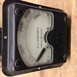 8a07abz72 Ge Panel Meter Type Ad-7 0-5000 Amps Ac