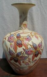 Large Excellent Stoke On Trent Pointons Floral Antique Vase 13 1/2 Tall-best