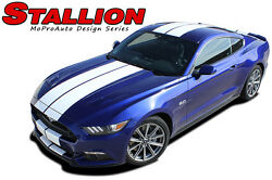 2015 2016 2017 Ford Mustang 10 In Hood Racing Rally Stripe Vinyl Graphic Decal