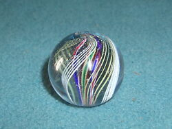Marbles Vintage Giant Swirl 1-9/16 Red White Blue Green Yellow Item 6