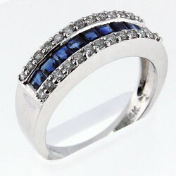 1.10ct Sapphire Ring With Diamonds