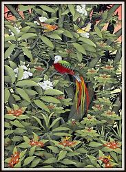 Original Balinese Painting Queen Of The Jungle 43.75 H X 32.5 W Signed