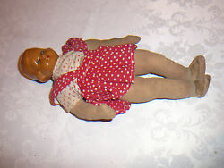 Doll - Art Deco - Celluloid And Cloth - 1920's,30 Cm, Hand Made Germany