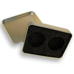 Metal Case For 2 Coins, Square Shape, Box, Collecting