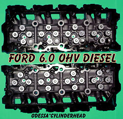 New 2 Ford 6.0 Ohv Turbo Diesel F350 Truck Cylinder Heads 18mm Cast080 Only