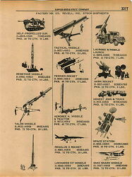 1961 ADVERT Revell Toy Model Tank Gun Redstone Missile Talso Terrier LaCross