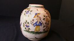 An Old French Tin Glazed Earthenware Moustiers Vase