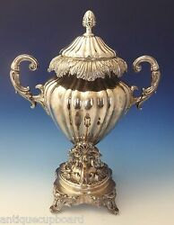 English Silverplate Hot Water Urn With Leaf And Scrollwork Motif 0204