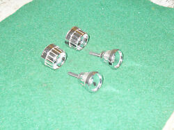 1965 1966 Mustang Fastback Coupe Convert Gt Shelby Orig Radio Knobs And Bezels Set