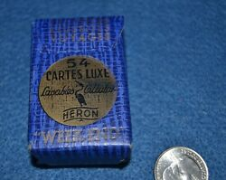 Vtg Miniature Playing Cards Heron France Week-end Lavables Cellulak Cartes Luxe