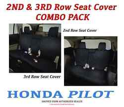 Genuine OEM Honda PILOT 2nd & 3rd Row Seat Covers for LX & EX Models 2016-2019