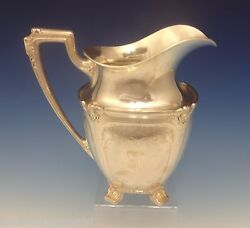Graff W And D Sterling Silver Water Pitcher Bright-cut Fancy Heavy 0397