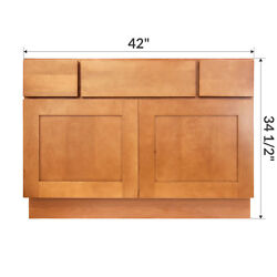 42 Bathroom Vanity Sink Base Cabinet Maple Newport By Lesscare