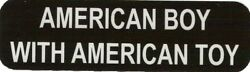 Motorcycle Sticker For Helmets Or Toolbox 1294 American Boy With American Toy