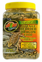Zoo Med Natural Bearded Dragon Food Juvenile 10oz. **Free Shipping**