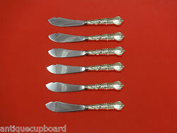 Florentine By And Co. Sterling Silver Trout Knife Set 6pc Hhws Custom