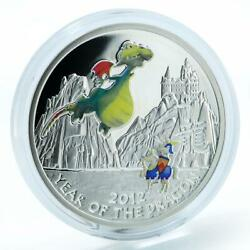Niue Year Of The Dragon Kids Style In Blister Silver Color Coin 2012