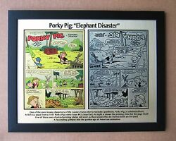 Porky Pig 1955 Elephant Disaster Printing Plate And Comic Page - Printed To Plate