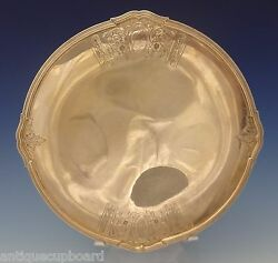 Saint Dunstan Chased By Gorham Sterling Silver Cake Plate 10 1/2 Diameter 0616