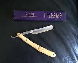 Vintage Wm Elliot And Co. 43 Straight Razor And Box Made In Germany U.s. Patent