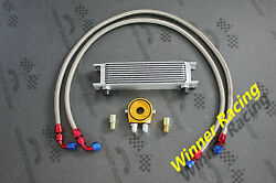 50mm 10 Row An-8/an8 Engine Transmission Oil Cooler Hose+ Filter Relocation Kits