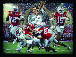 Champions Of A New Era Canvas Edition Giclée - Ohio State Print