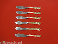 La Reine By Wallace Sterling Silver Trout Knife Set 6pc Hhws Custom Made