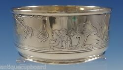 And Co. Sterling Silver Childand039s Bowl With Acid-etched Fairies 0808