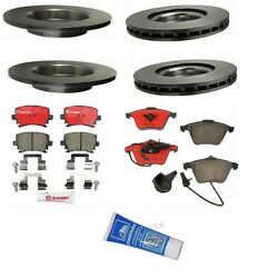 For Audi A4 A4 Quattro 05-09 Brake Kit Front+rear Brembo Rotors Pads Lubricant