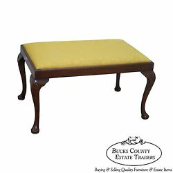 Custom Quality 18th Century Style English Queen Anne Bench